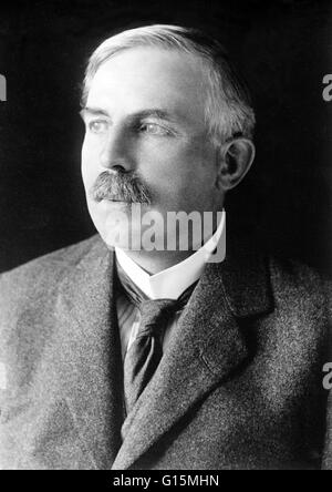 Ernest Rutherford (August 30, 1871 - October 19, 1937) was a New Zealand-born British chemist and physicist who - Stock Photo