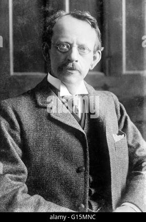 Joseph John Thomson (December 18, 1856 - August 30, 1940) was an English physicist. He is credited with discovering - Stock Photo