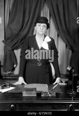 Frances Perkins (April 10, 1880 - May 14, 1965), born Fannie Coralie Perkins, was the US Secretary of Labor from - Stock Photo