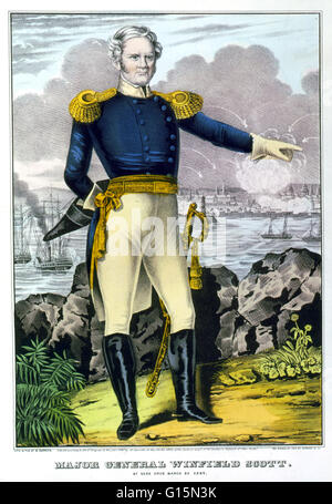 Winfield Scott, American Army General, 1847. Winfield Scott (June 13, 1786 - May 29, 1866) was a United States Army - Stock Photo