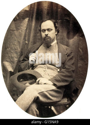 Dante Gabriel Rossetti (May 12, 1828 - April 9, 1882) was an English poet, illustrator, painter and translator. - Stock Photo