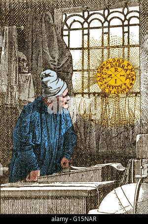 Doctor Johann Georg Faust (1480-1540), also known as John Faustus, was an itinerant alchemist, astrologer, and magician - Stock Photo