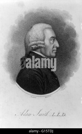 Adam Smith (June 5, 1723 - July 17, 1790) was a Scottish moral philosopher and a pioneer of political economy. He - Stock Photo