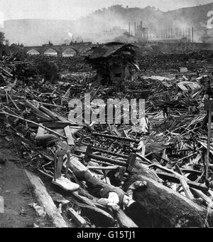 The Johnstown Flood (or Great Flood of 1889 as it became known locally) occurred on May 31, 1889. It was the result - Stock Photo