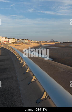 Blackpool, UK. 9th May 2016. A beautiful evening in Blackpool after a very warm day the warmest day of the year - Stock Photo