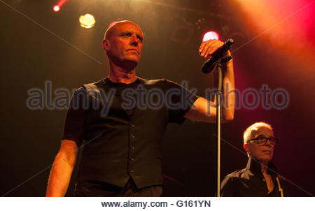 Toronto, Canada. 8th May, 2016. Holy Holy, L-R on stage, Vocals: Glenn Gregory, Bass: Tony Visconti,  The Phoenix - Stock Photo