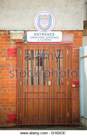 Arbroath, Scotland, UK. 9th May 2016. UK Weather, Sunshine in Scotland, Arbroath FC, Queens Drive Turnstile Entrance, - Stock Photo
