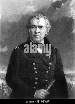 Zachary Taylor (November 24, 1784 - July 9, 1850) was the 12th President of the United States (1849-1850) and an - Stock Photo