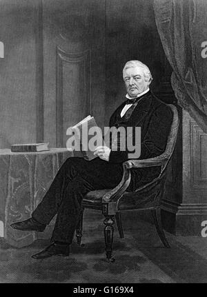 Millard Fillmore (January 7, 1800 - March 8, 1874) was the 13th President of the United States (1850-1853) and the - Stock Photo