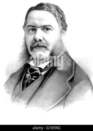 Chester Alan Arthur (October 5, 1829 - November 18, 1886) became the 21st President of the United States (1881-85) - Stock Photo