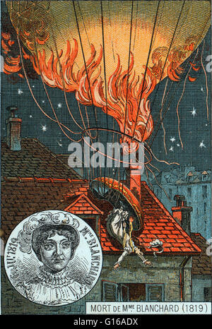 Sophie Blanchard (March 25, 1778 - July 6, 1819) was a French aeronaut and the wife of ballooning pioneer Jean-Pierre - Stock Photo
