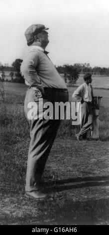 Taft playing golf while president of the United States. Photographed by Frances 'Fannie' Benjamin Johnston. No date - Stock Photo