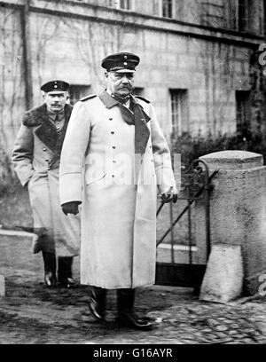 Paul Ludwig Hans Anton von Beneckendorff und von Hindenburg (October 2, 1847 - August 2, 1934) was a Prussian-German - Stock Photo