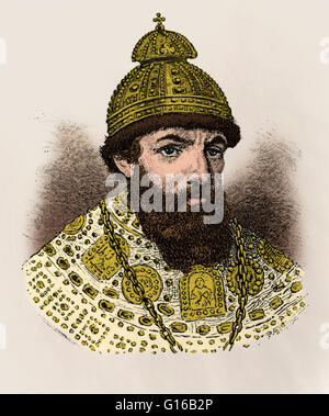 Ivan IV, Czar of Russia. Ivan IV Vasilyevich (August 25, 1530 - March 28, 1584) was Grand Prince of Moscow from - Stock Photo
