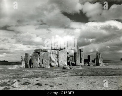 Stonehenge is a prehistoric monument in Wiltshire, England. One of the most famous sites in the world, Stonehenge - Stock Photo