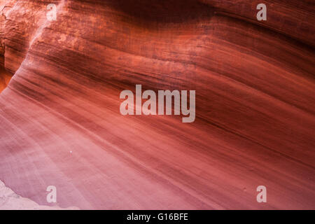 Lines of erosion in the sandstone of an Arizona slot canyon in the American southwest. - Stock Photo