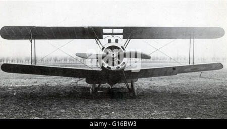 The Sopwith Camel was a British WWI single-seat biplane fighter introduced on the Western Front in 1917. Manufactured - Stock Photo