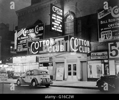 In 1920, heavyweight boxing champion Jack Johnson opened the Cotton Club under the name, Club Deluxe, on the corner - Stock Photo