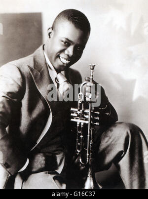 Armstrong circa 1930. Louis Armstrong (August 4, 1901 - July 6, 1971) was an American jazz trumpeter and singer. - Stock Photo