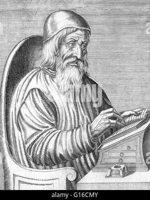 Johannes Trithemius (February 1, 1462 - December 13, 1516), born Johann Heidenberg, was a German Benedictine abbot - Stock Photo