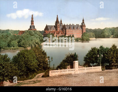 Frederiksborg Castle is a palace in Hillerod, Denmark. It was built as a royal residence for King Christian IV and - Stock Photo