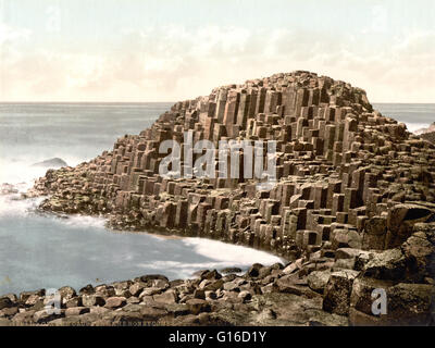 The Honeycombs, Giant's Causeway, County Antrim photographed by the Detroit Publishing Company circa 1890-1900. - Stock Photo