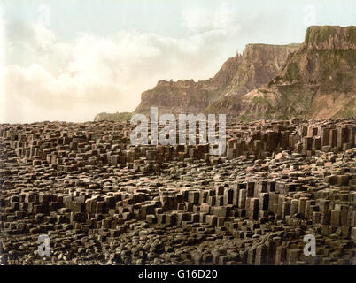Giant's Causeway, County Antrim photographed by the Detroit Publishing Company circa 1890-1900. The Giant's Causeway - Stock Photo