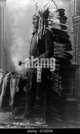 Sitting Bull, 1888. Sitting Bull (1831 - December 15, 1890) was a Hunkpapa Lakota holy man who led his people as - Stock Photo