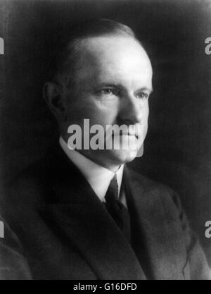 President Coolidge portrait dated December 4, 1923. John Calvin Coolidge, Jr. (July 4, 1872 - January 5, 1933) was - Stock Photo