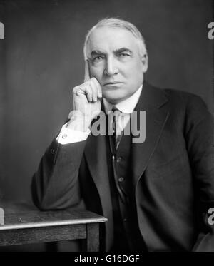 Warren Gamaliel Harding (November 2, 1865 - August 2, 1923) was the 29th President of the United States (1921-23), - Stock Photo