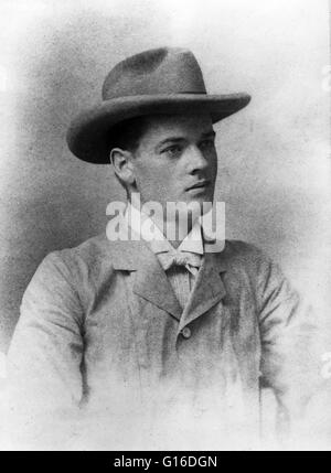 Hoover, age 23, taken in Perth, Australia, 1898. Herbert Clark Hoover (August 10, 1874 - October 20, 1964) was the - Stock Photo