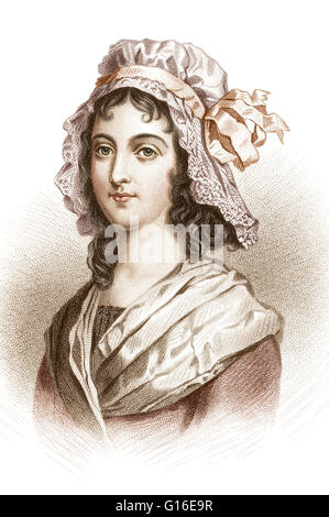Charlotte Corday (July 27, 1768 - July 17, 1793) was a figure of the French Revolution. In 1793, she was executed - Stock Photo