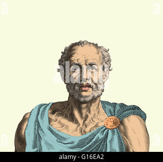 Lucius Annaeus Seneca (4 BC - 65 AD) was a Roman Stoic philosopher, statesman, dramatist, and in one work humorist, - Stock Photo