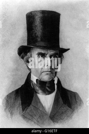 Daniel Webster (January 18, 1782 - October 24, 1852) was a leading American statesman and senator from Massachusetts. - Stock Photo