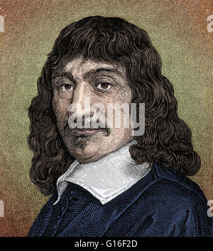 René Descartes (1596 - 1650) was a French mathematician, philosopher and scientist. He is considered the father - Stock Photo