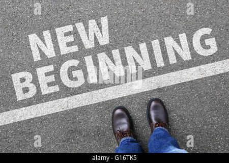 New beginning beginnings old life future past goals success decision change decide - Stock Photo