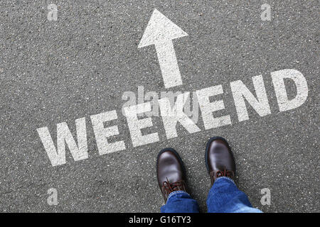 Weekend relax relaxed break people business concept free time leisure - Stock Photo