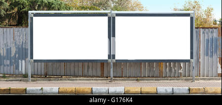 Blank outdoor - two billboards - Stock Photo