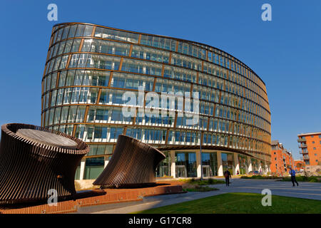 One Angel Square building in Manchester City Centre. The headquarters of the Co-operative Group. - Stock Photo