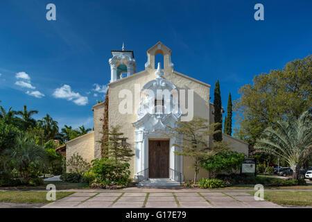 CONGREGATIONAL CHURCH CORAL GABLES FLORIDA USA - Stock Photo