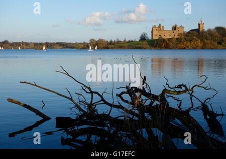 Linlithgow Loch and Palace - Stock Photo