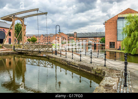 Housing developments Castlefield area in the inner city area of Manchester in North West England. - Stock Photo