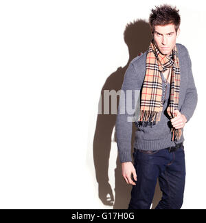 Goodlooking Man In Scarf - Stock Photo