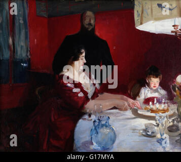 John Singer Sargent - The Birthday Party - Minneapolis Institute of Art - Stock Photo