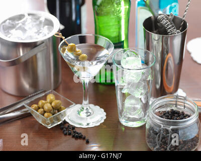 Traditional Italian drink of Italian Martini - Stock Photo