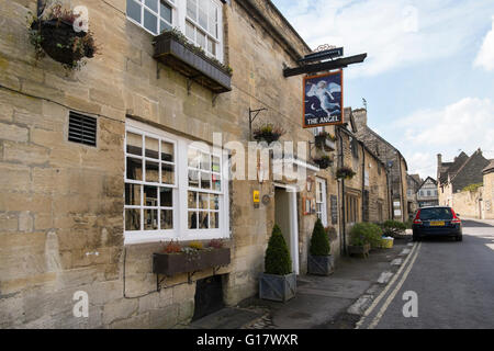 The Angel pub restaurant in Burford, Oxfordshire, UK - Stock Photo