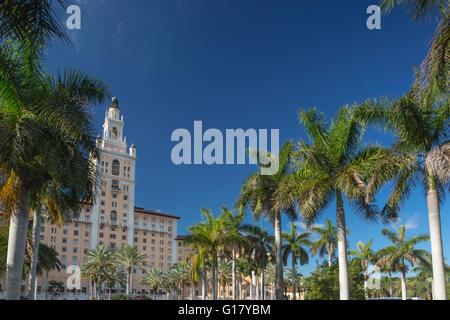 BILTMORE HOTEL MIAMI CORAL GABLES FLORIDA USA - Stock Photo