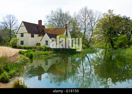Willy Lott's House at Flatford, Suffolk, England UK - Stock Photo