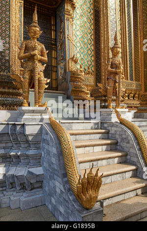 Entrance to Phra Mondop, Grand Palace, Bangkok, Thailand - Stock Photo