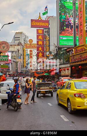 Chinatown in Bangkok, Thailand - Stock Photo